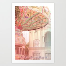 Viena carousel  Art Print