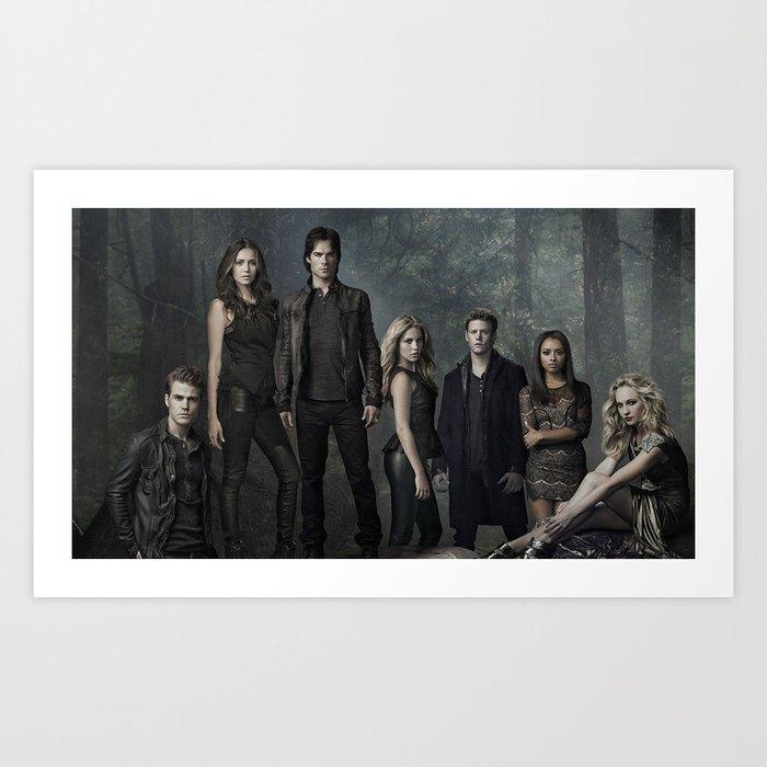 The Vampire Diaries Cast Kunstdrucke Von Larryniamlilo Society6