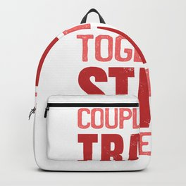 Couple That Trains Together Matching Couple Backpack