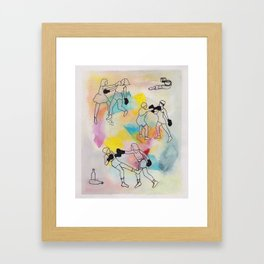 Knock It Out Framed Art Print
