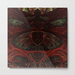 Xeno Blood Red Metal Print