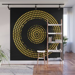 Abstract gold confetti Wall Mural