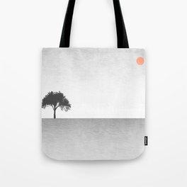 Tree Artwork Grey And Black Landscape Tote Bag
