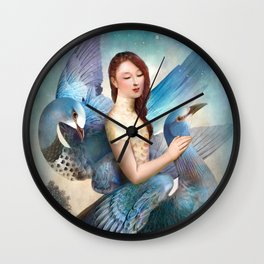 Sky Dancers Wall Clock