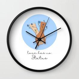 Love has no status Wall Clock