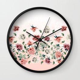 Border Flowers Wall Clock