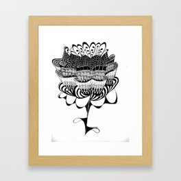 Exotic Flower Framed Art Print