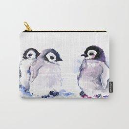Penguins, penguin design baby penguin art, children gift Carry-All Pouch