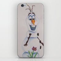 olaf iPhone & iPod Skins featuring Olaf  by Sierra Christy Art