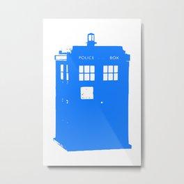 Doctor Who: Stamped Tardis Metal Print