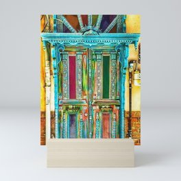 Beautiful Multi-Colored Doorway Photograph Mini Art Print