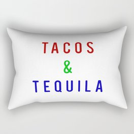 Tacos And Tequila Rectangular Pillow