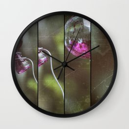 Glass And Good Luck Wall Clock
