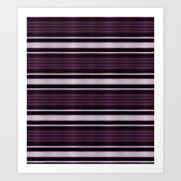 Elegant Bold Purple and Siver Stripes Art Print
