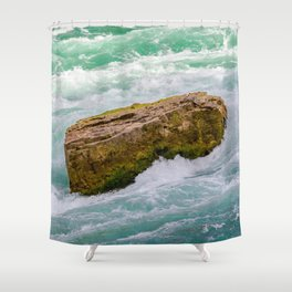 Solid as a rock Shower Curtain