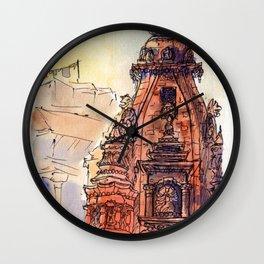 Bhaktapur Temple Wall Clock