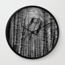 owl in the woods Wall Clock