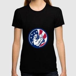 American Gym Circuit USA Flag Icon T-shirt