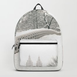 Winter Snow in New York City Backpack
