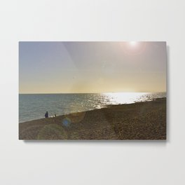 Spring Sunset by the Sea Metal Print