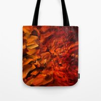 blood Tote Bags featuring Blood by Paul Kimble