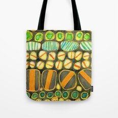 Vintage Decorated Round Shapes Pattern Tote Bag