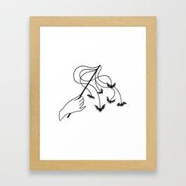 bat wand Framed Art Print