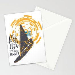 Hey Surfs Up This Summer Parasailing Stationery Cards