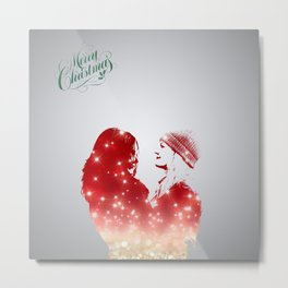 SwanQueen Christmas Edition Metal Print