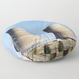 Nuclear power plant in Northern California Floor Pillow