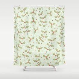 Christmas Holly Shower Curtain