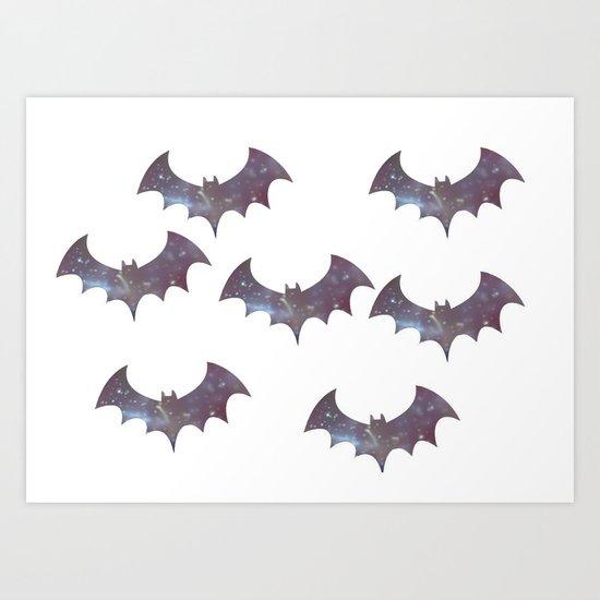 Space bats Art Print