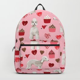 Bedlington Terrier cupcakes valentines day dog breed gifts for dog person Backpack
