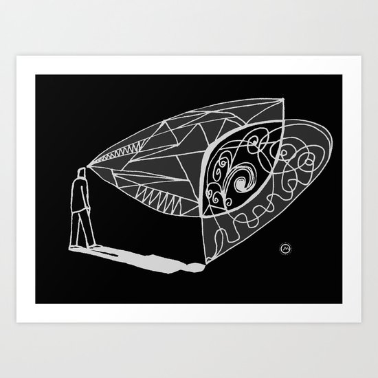 dialogue with shadow Art Print