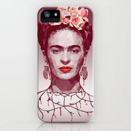 Frida Kahlo Low Poly Portrait iPhone Case