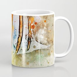 Yellow butterfly fish painted in bursting watercolor! Coffee Mug