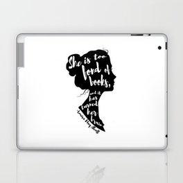 FOND OF BOOKS | LOUISA MARY ALCOTT Laptop & iPad Skin