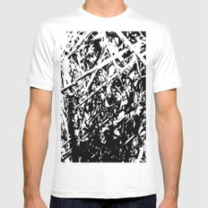 Dense forest White MEDIUM Mens Fitted Tee