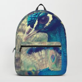 Peacock in the courtship Backpack