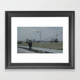 Angry Amish Framed Art Print
