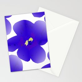 Large Retro Blue Flowers #1 White Background #decor #society6 #buyart Stationery Cards