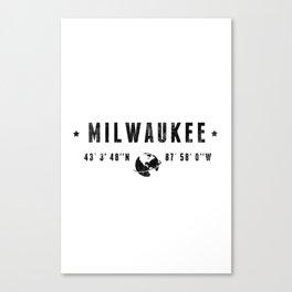 Milwaukee geographic coordinates Canvas Print