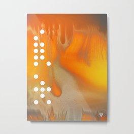 Orange Abstract Passion Metal Print