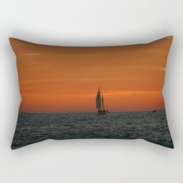 Sunset Sailing Rectangular Pillow