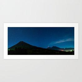 Volcanoes in the Night Art Print