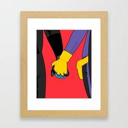 Hand Holding in Gotham Framed Art Print