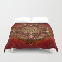 Mandala Flames Duvet Cover