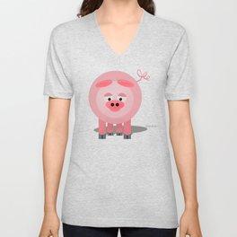Piggy Unisex V-Neck