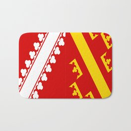 flag of alsace Bath Mat