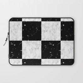 Elegant black white marble Laptop Sleeve